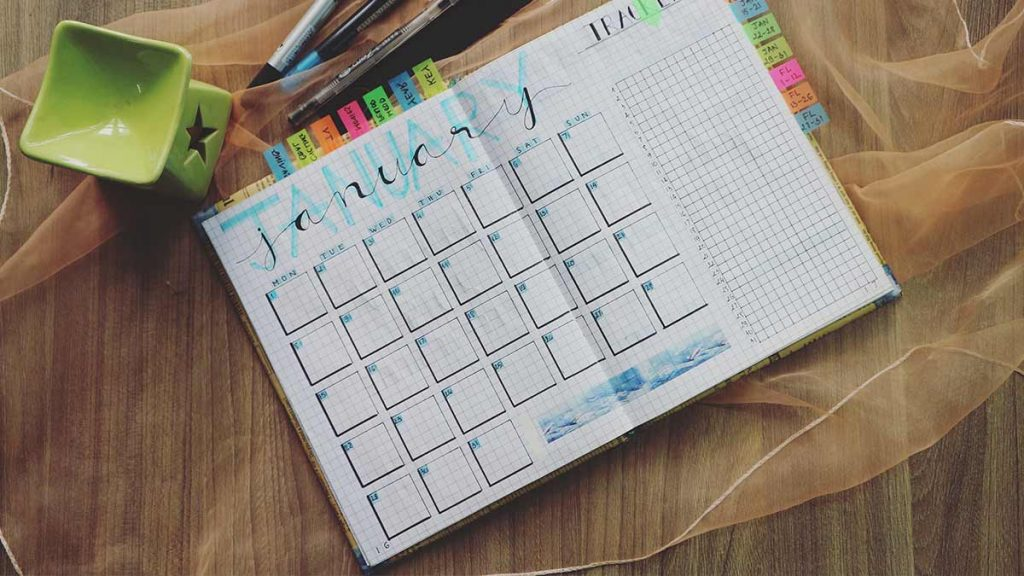 Ilustrasi tentang jadwal konten media sosial